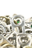 Old aluminum ring pulls Stock Images