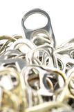 Old aluminum ring pulls Stock Photography