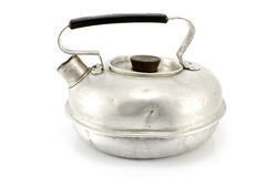 Old aluminum teapot Stock Images