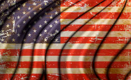 Old America Flag Royalty Free Stock Images
