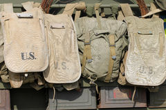 Old American army bags Royalty Free Stock Photos