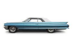 Old american car. Side view of an old american car Royalty Free Stock Images