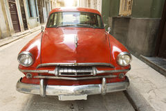 Old american car on beautiful street of Havana, Cuba Royalty Free Stock Image