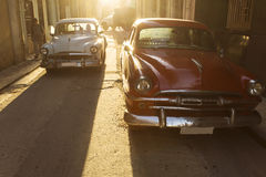 Old american car on beautiful street of Havana, Cuba Royalty Free Stock Photography