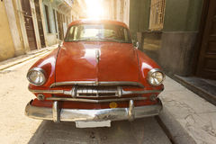 Old american car on beautiful street of Havana, Cuba Stock Photography