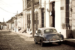 Antique car, Trinidad Stock Photos