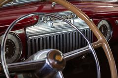 Old American car control panel royalty free stock photo