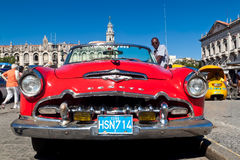 Old american car in Cuba Stock Image