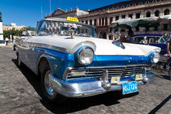 Old american car in Cuba Stock Photo