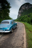 Old american car drive in Cuba Stock Image