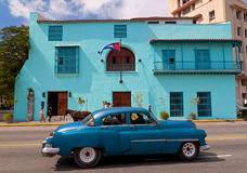 Old american car in Havana Stock Photography