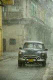 Old american car in Havana Royalty Free Stock Images