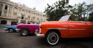 Old american car on the Havana street Stock Photography