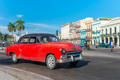 Old american car in Old Havana Royalty Free Stock Image