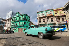 Old American Car On The Havana Street Royalty Free Stock Image