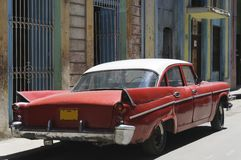 Old american car. On the road of Havana, Cuba Stock Photo