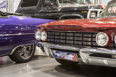 Old american car on static display Royalty Free Stock Images