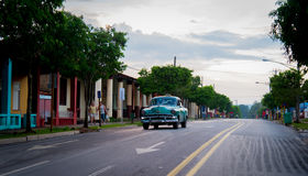 Old american car in Vinales. Old american car in the town of Vinales, Cuba Stock Image