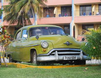 Old American Cars In Cuba Royalty Free Stock Image