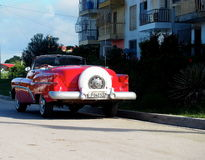 Old American Cars In Cuba Royalty Free Stock Photo