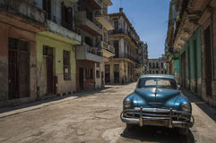 Old American cars in the streets of Stock Photo