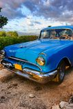 Vintage American car near Trinidad, Cuba Royalty Free Stock Photos