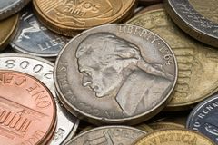 Old American coins Royalty Free Stock Photos