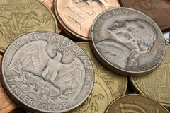 Old American coins Royalty Free Stock Images