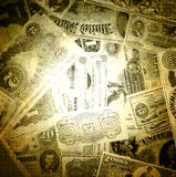 Old american dollars background. Stock Photography