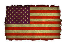Old American flag. Vector, old, us, poster Stock Image