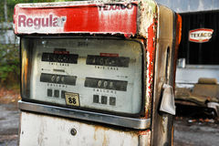 Old American Gas Pump Royalty Free Stock Photography