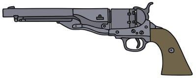 Old american handgun Stock Photography