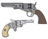 Old american handguns Royalty Free Stock Image
