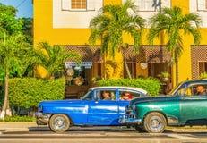 Old American in Havana, Cuba Stock Photos