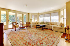 Old American house  large living room. Royalty Free Stock Image