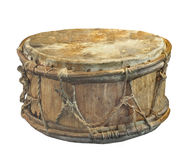 Old American Indian Drum Isolated Royalty Free Stock Image