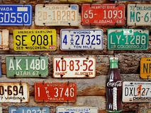 Old license plates Stock Image