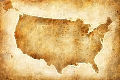 Old american map. Background, map of the USA, old map of the USA Stock Photo
