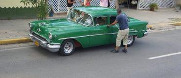 Old American Opel. Cuba. Varadero. Stock Image