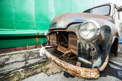 An old, American ruined car Stock Images