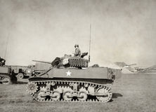 Old American tank Stock Photos