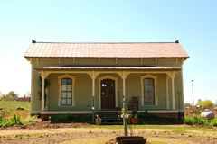 Old american victorian porch. An old style front porch on a house royalty free stock image