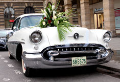 Old american wedding car Stock Photo