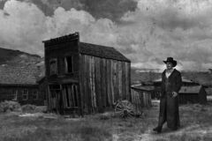 Free Old American West, Cowboy, Vintage Photograph Royalty Free Stock Photos - 170657958