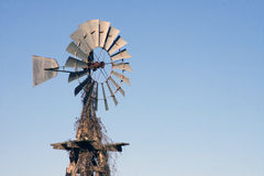 Old American Windmill. Photograph of a old american windmill in Oklahoma royalty free stock photos