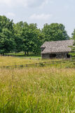 Old amish Barn on farm stock photography