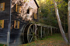 Old Amish Mill. Old Amish Grist Mill royalty free stock photo