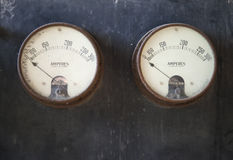 Old Ammeter Pair Stock Photos