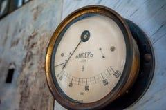 Old amperage meter. At Besletskaya hydro power plant, circa 1905 Royalty Free Stock Image
