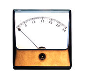 Old ampermeter on white background. Old ampermeter on a white background royalty free stock image